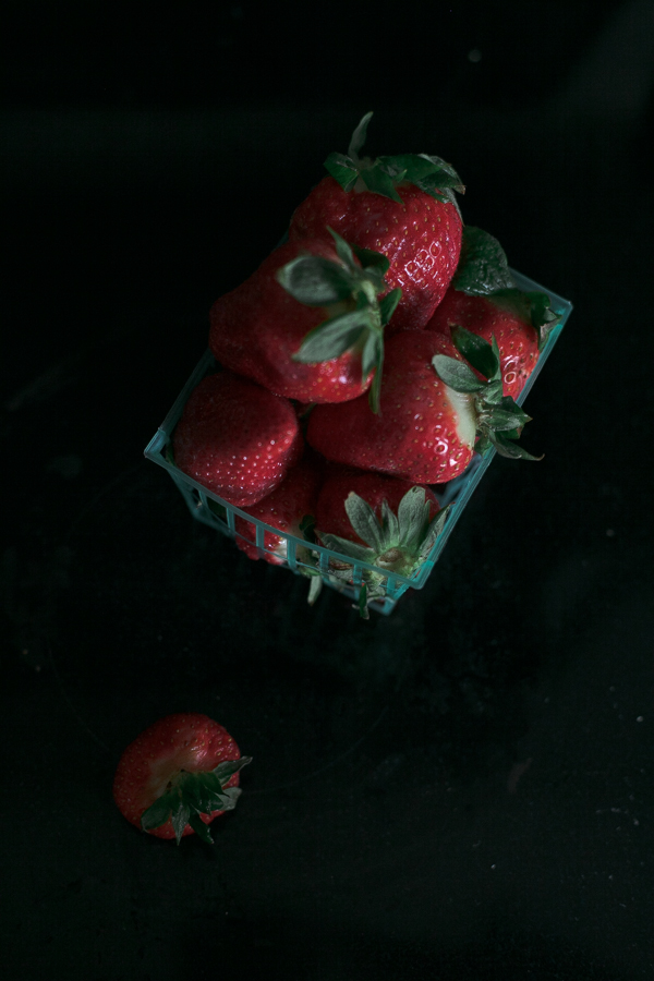Use of Negative Space in Photography - Image of Strawberries