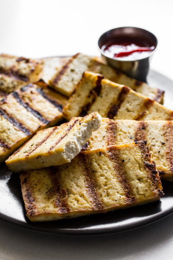 Soft Interior Texture of Grilled Tofu