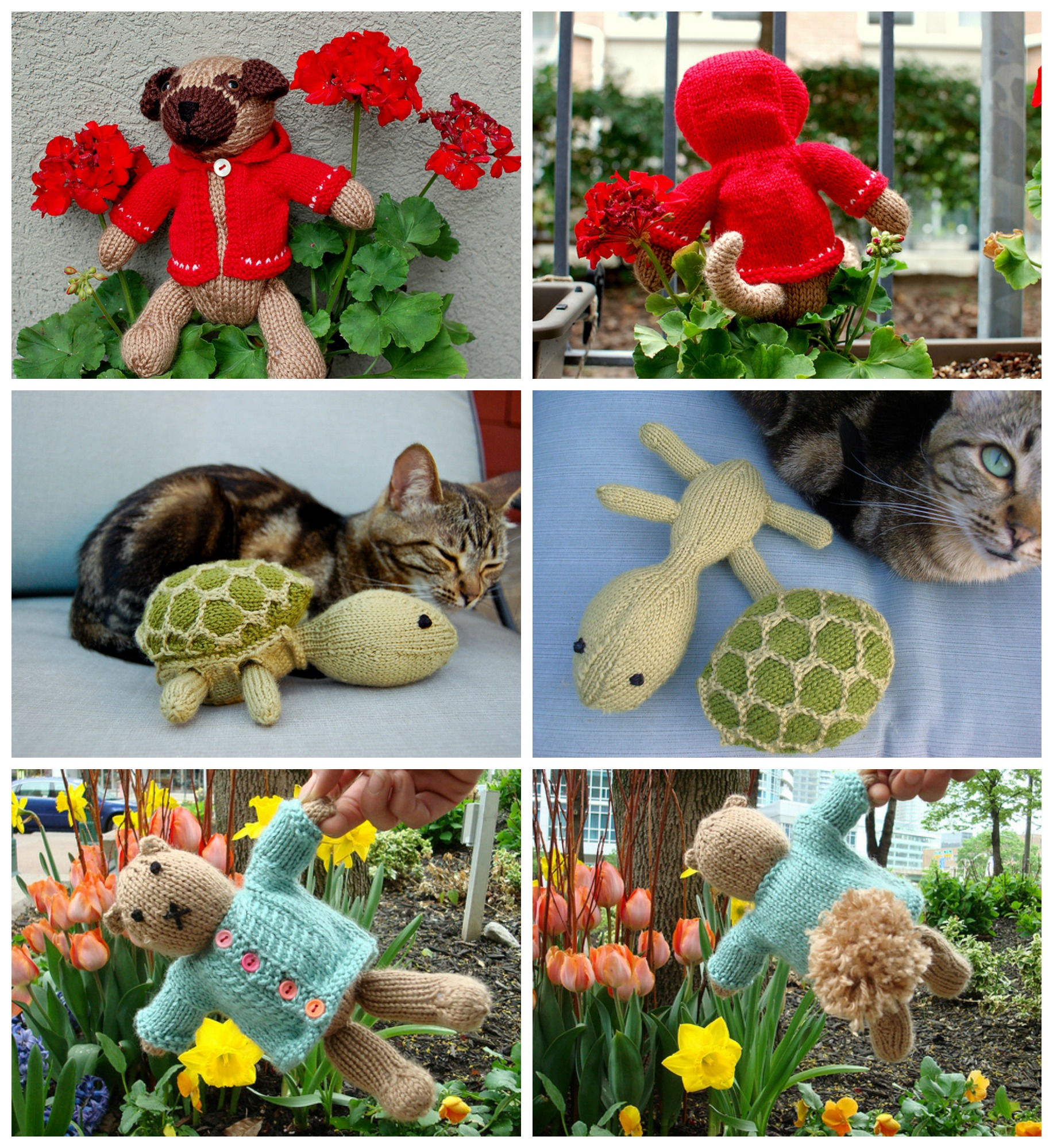 Collage of Knitted Toys