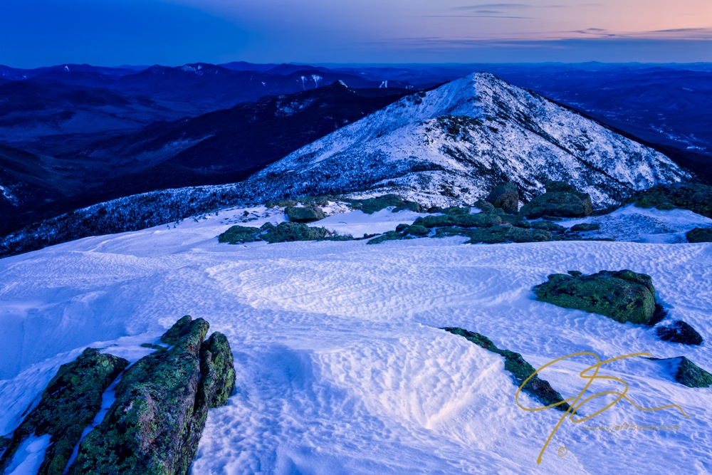 High ridge mountain covered in snow