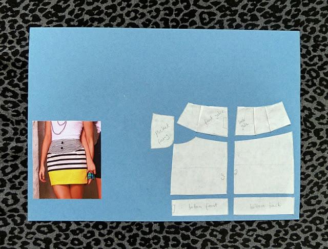 quarter-scale models of the basic skirt block