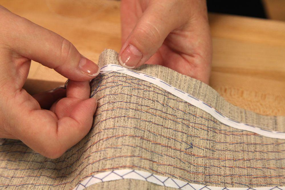 pad stitching on a collar and lapel, a custom tailoring technique