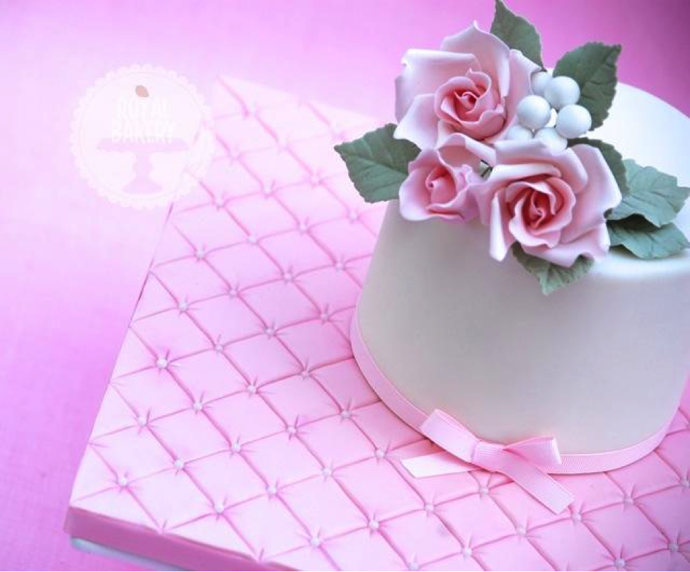 Quilted Cake Board