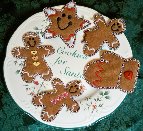 Embellishing embroidery: Sew Inspired by Bonnie gingerbread