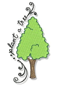 Plant a Tree : Earth Day Embroidery