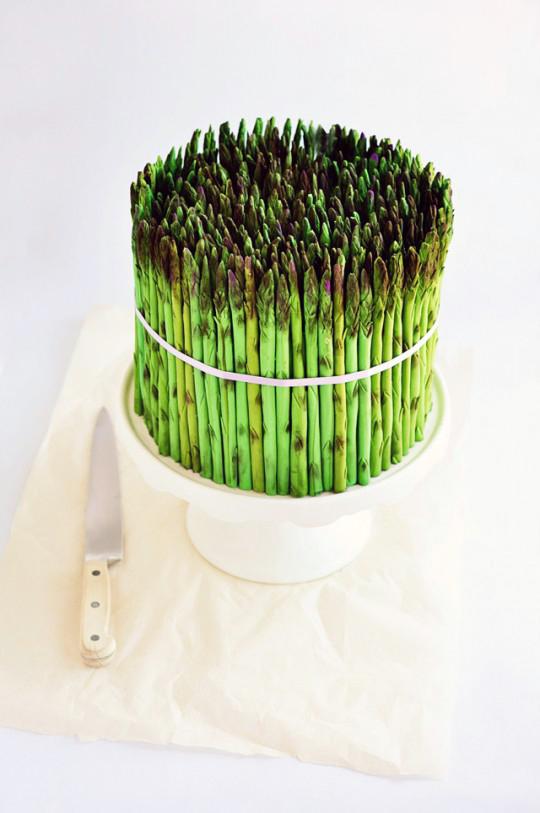 Asparagus cake by Sweetapolita
