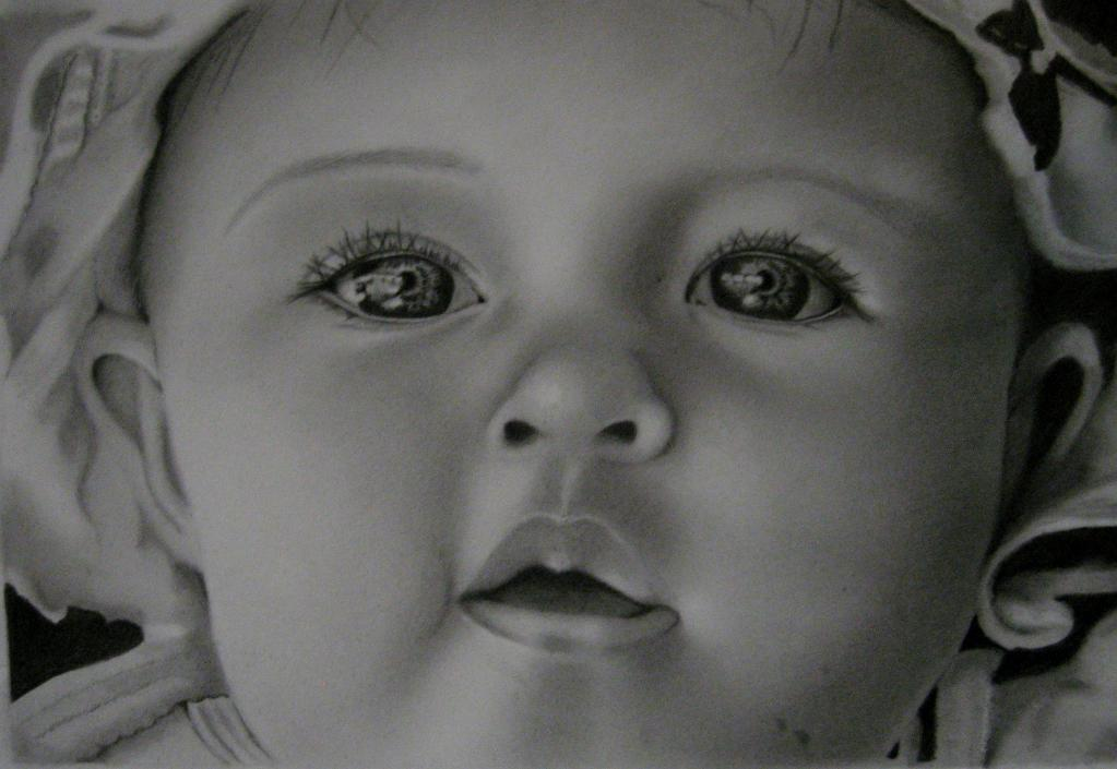 Drawing of an Infant's Face