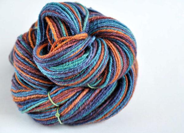 chain plied handspun yarn