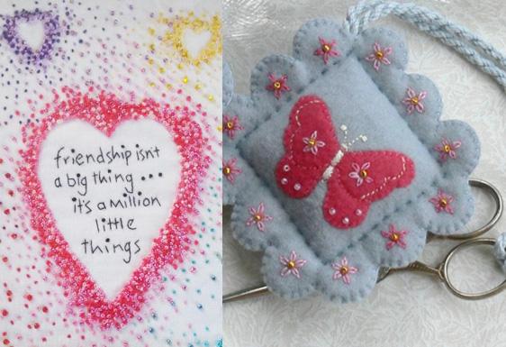 Embellishing embroidery: beads