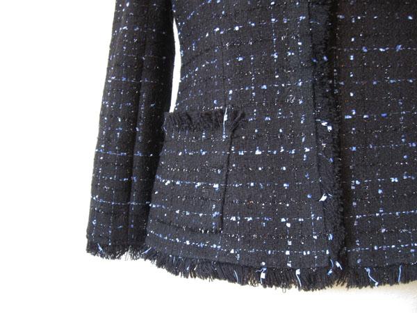 plaid jacket with pocket