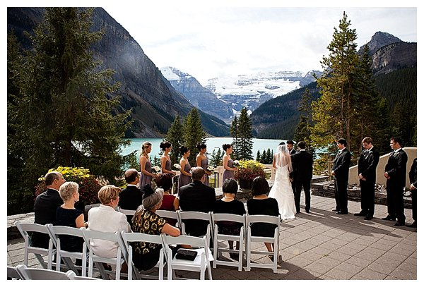 Wedding at lake louise, canada