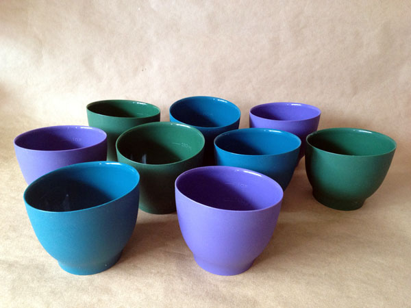 1 cup silicone bowls