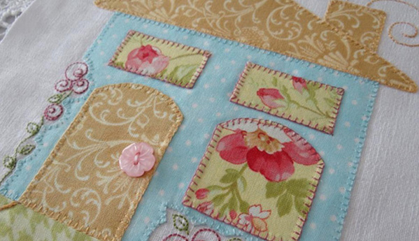 Shabby Rose Home Embroidery Pattern