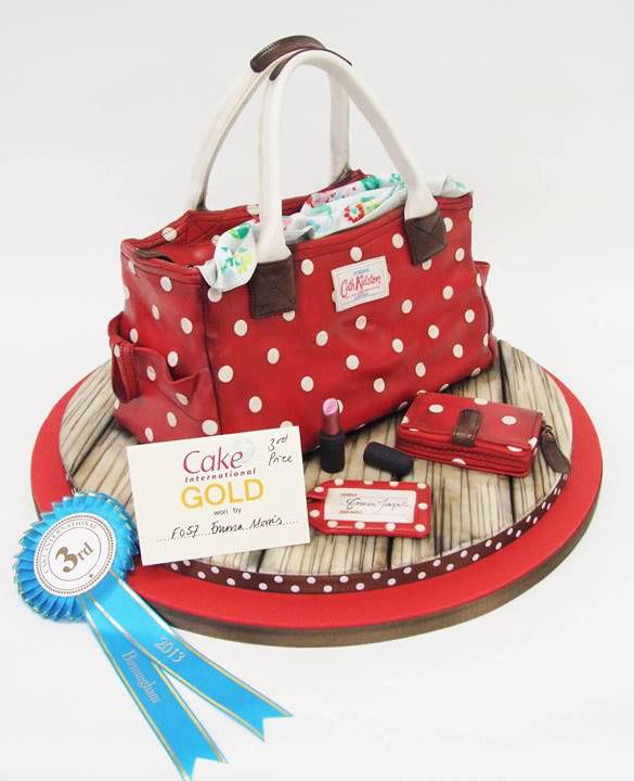 Cath Kidston bag cake by Emma Jayne Cake Designs