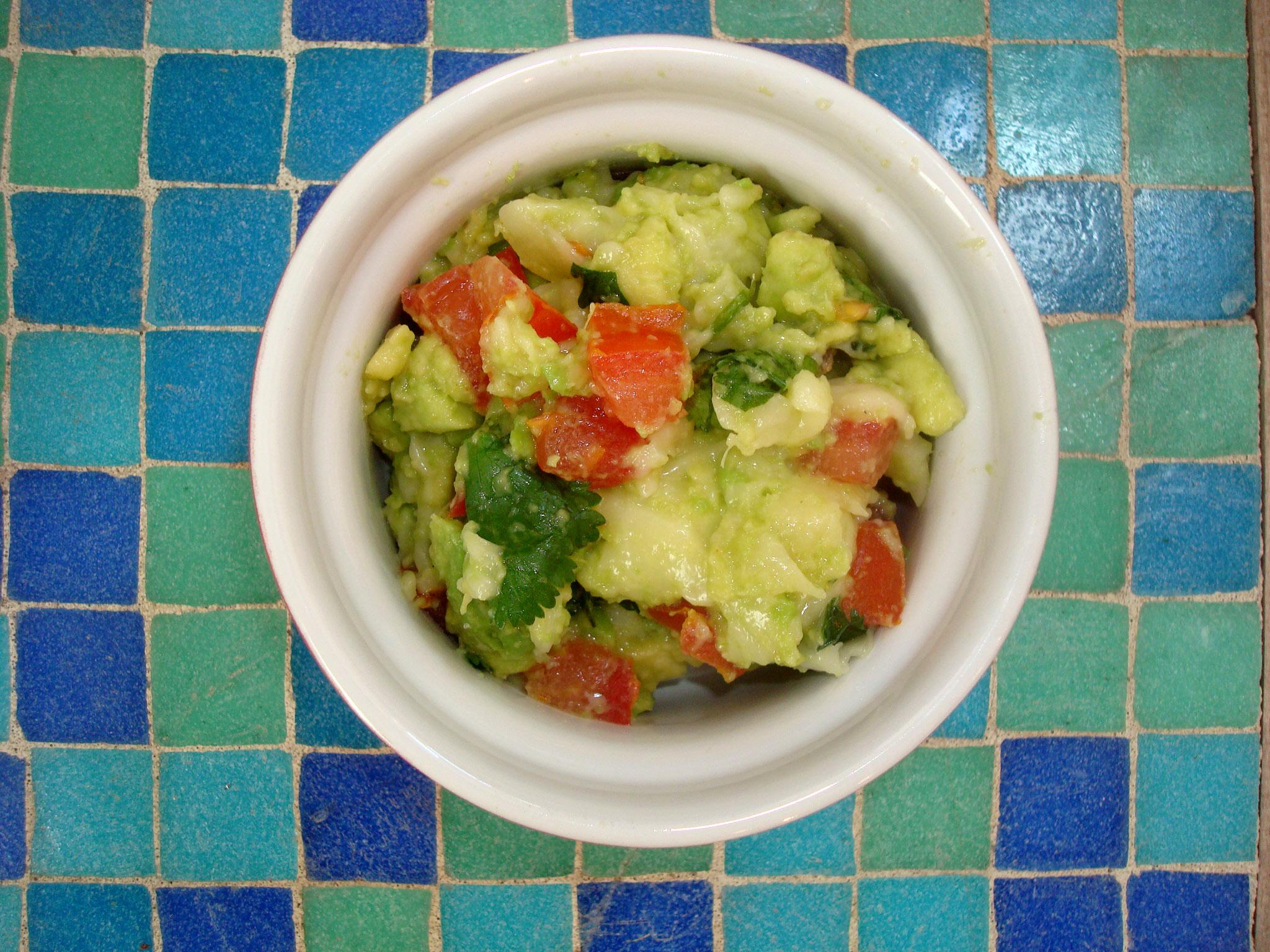 Homemade Cheesy Guacamole Recipe on Bluprint