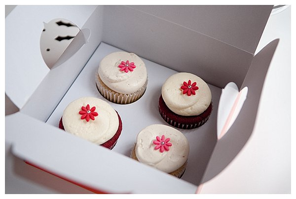 Four cupcakes in box