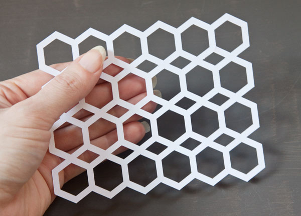Die Cut Hexagon Pattern Background