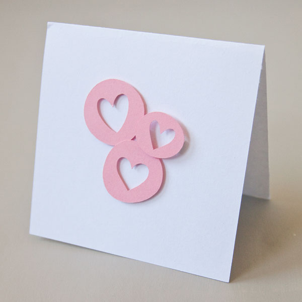 Simple Hearts Die Cut Embellishments