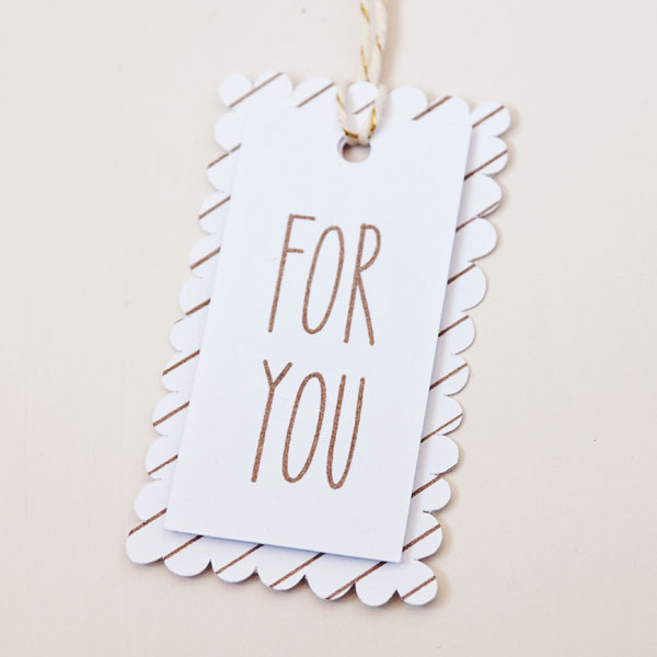 Die Cut For You Gift Tag