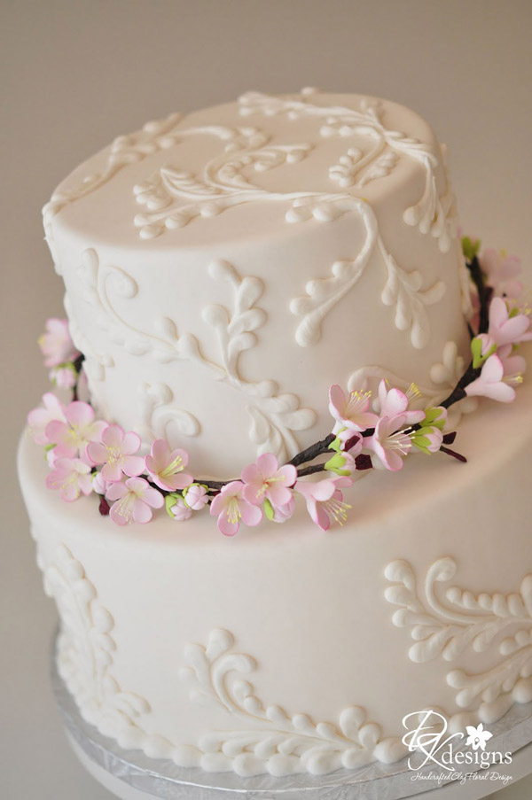 Cherry blossom cake by DK Designs
