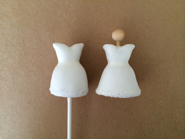 White cake pop dresses