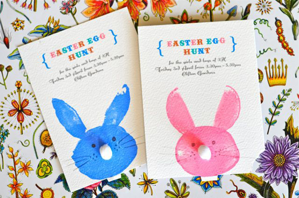 Painted Easter Bunny Cards