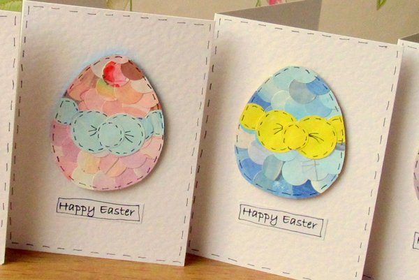 Colorful Easter Egg Cards