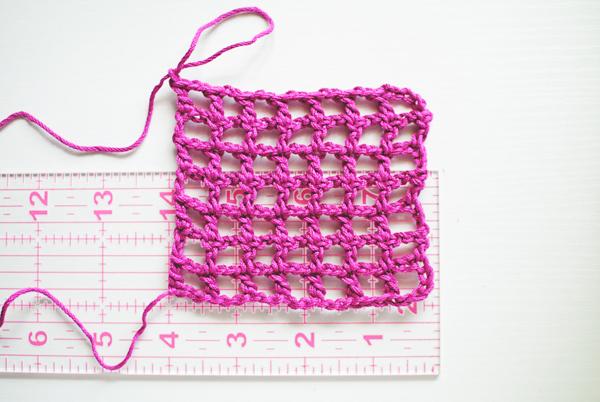 Determining Gauge for filet crochet