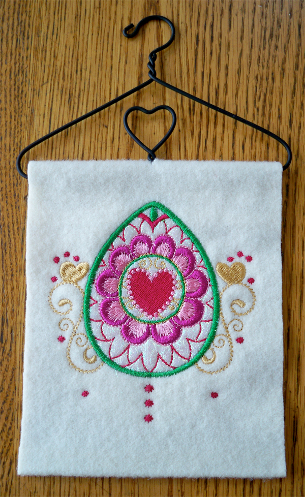 Completed Easter Applique Wall Hanging