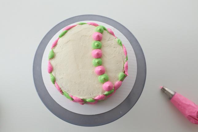 Fish Birthday Cake with Buttercream