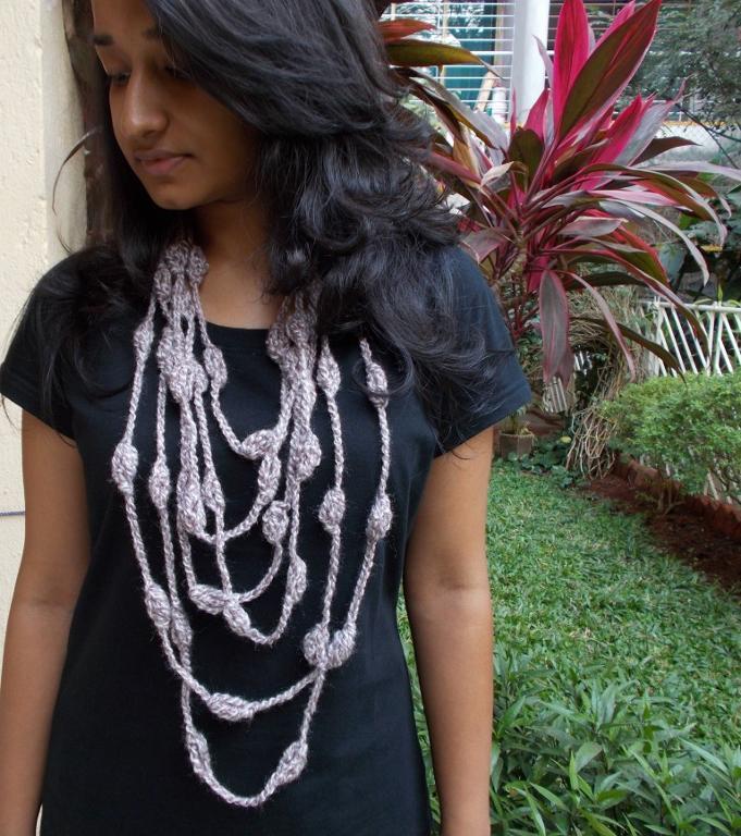Shankh Necklace Crochet Pattern