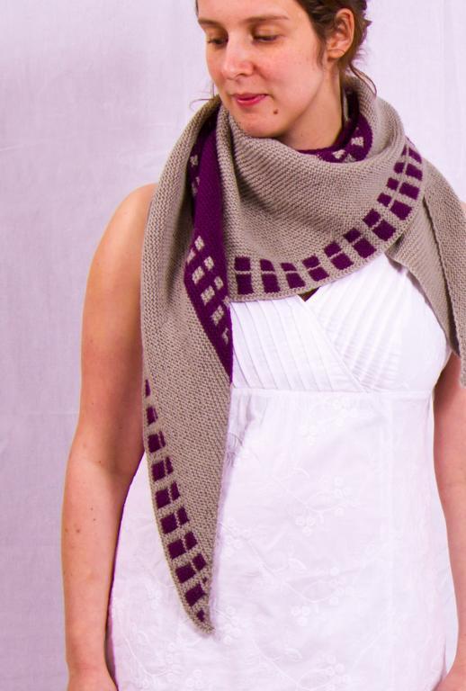 Marelle knit shawl