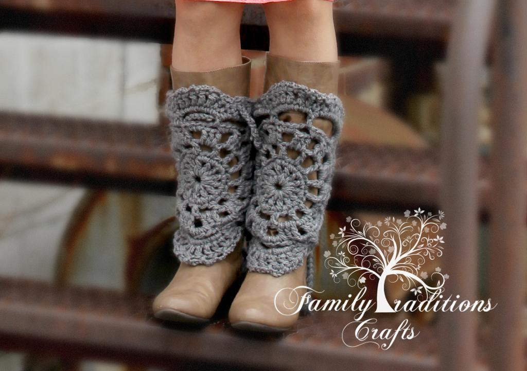 Lace doily crochet bootcovers
