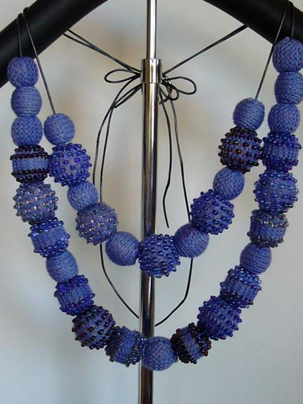 Faith's knit bead necklace