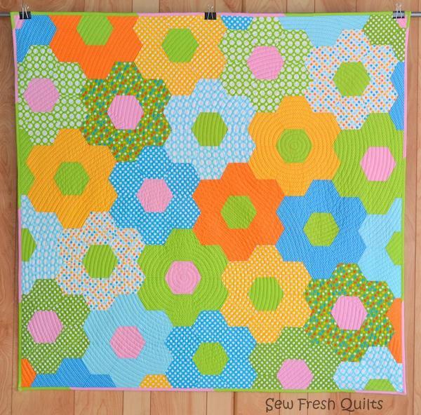 Modern Flower Garden Quilt - Bluprint Pattern