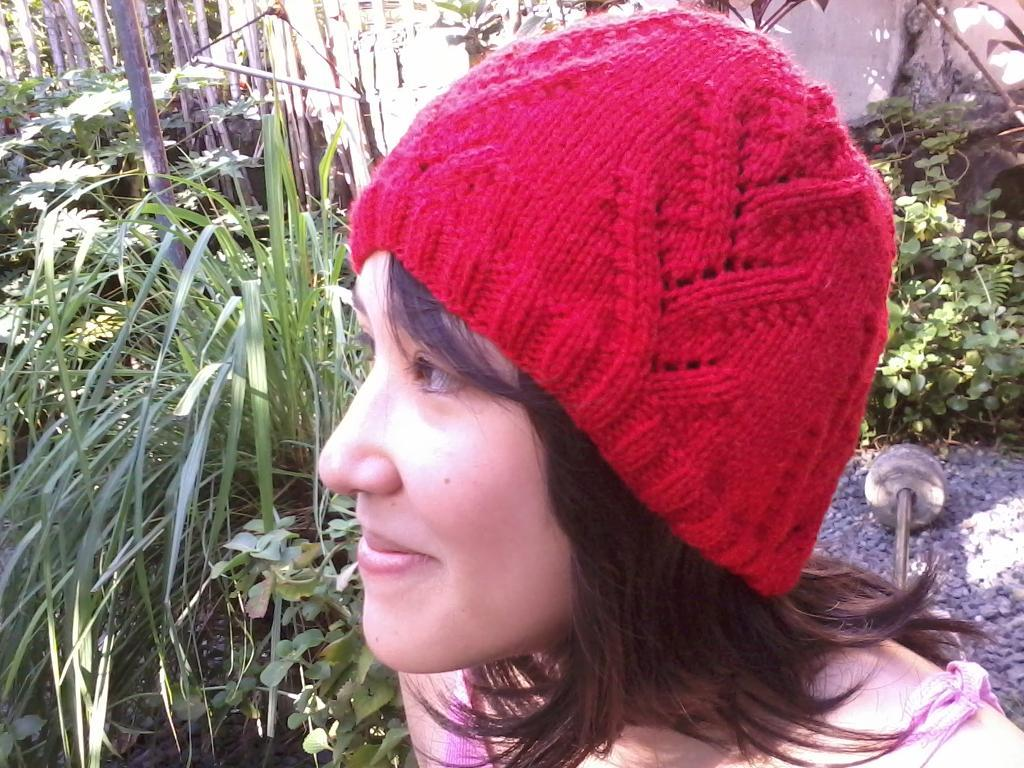 Lily of the valley knitted hat