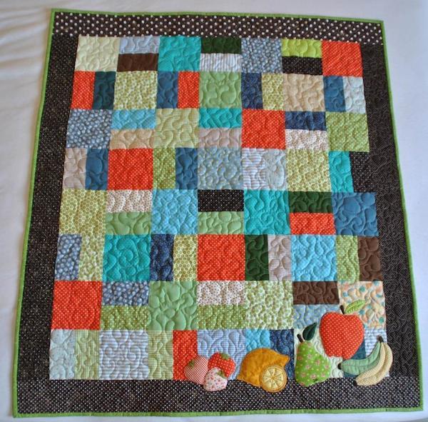 Fresh Fruits Baby Quilt: Bluprint Member Pattern