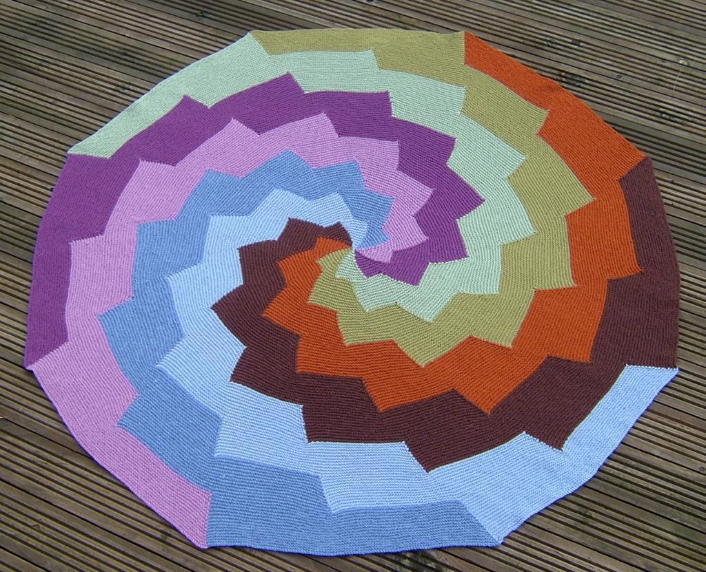 Knit revolution circle blanket