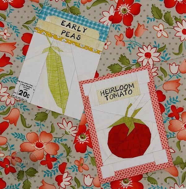 Seed Packets Paper-Pieced Block