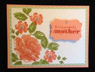 Mother's Day Card Pattern