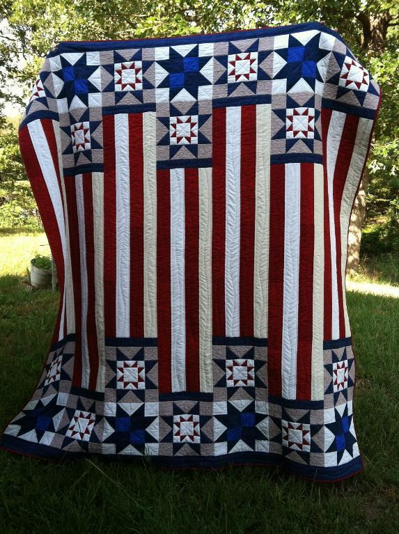 Quilt of Valor made by Bluprint Member