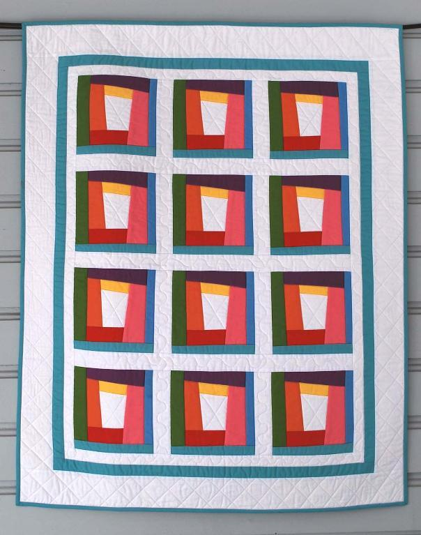 Modern Rainbow Baby Quilt - Free Patterns on Bluprint!