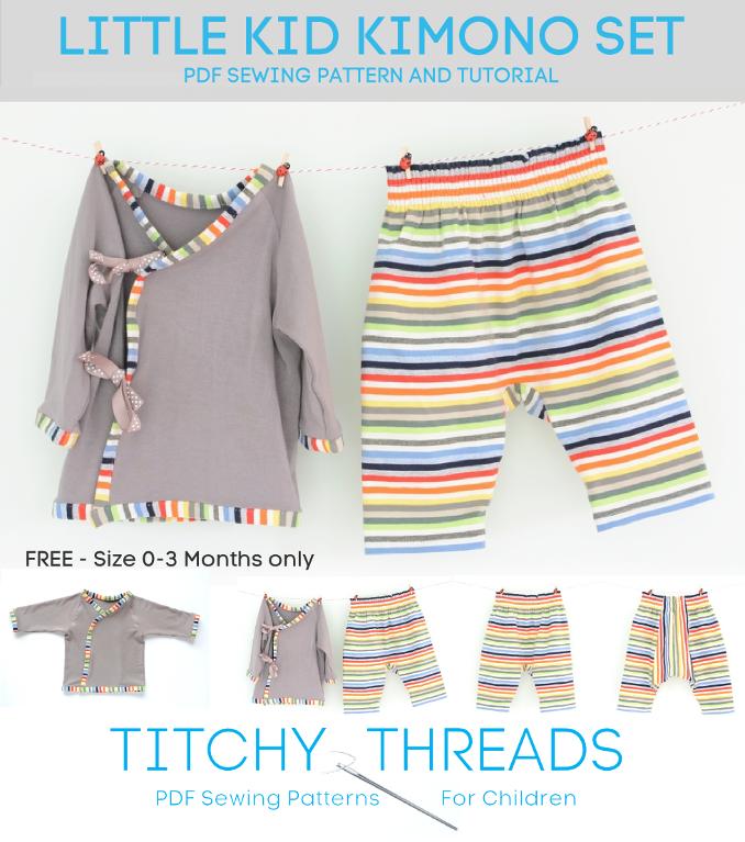 Baby Kimono Set Sewing Pattern