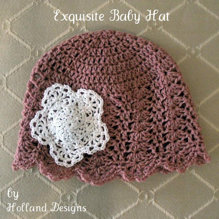 Exquisite crochet baby hat