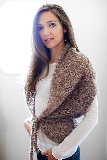 Cocoon Knit Shawl - Free Pattern on Bluprint!