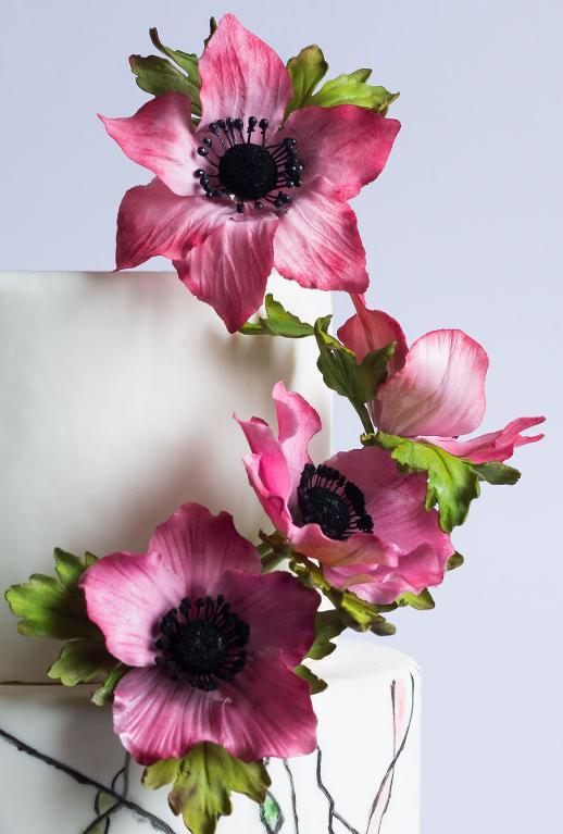Anemone cake by ModernLovers