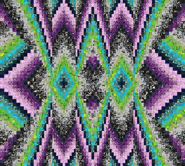 Bright Nights Bargello Quilt
