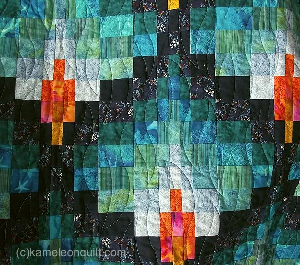 Bargello Flame Quilt