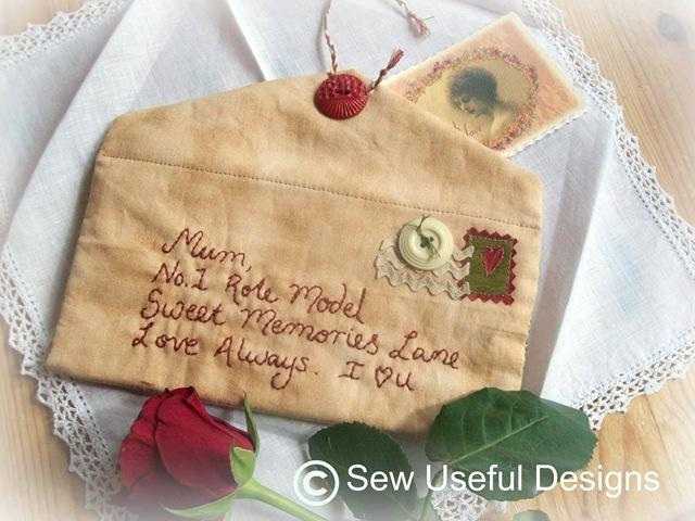 To Mum With Love Embroidery Pattern on Bluprint!