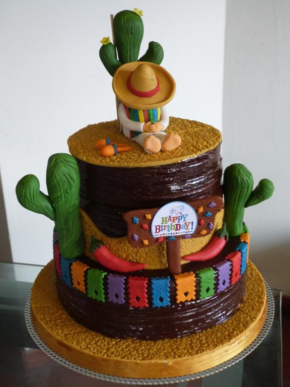 Mexican-themed birthday cake